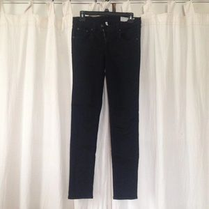 Rag and Bone Black Skinny Jeans